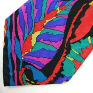 Lorenzo Vega Men's Neck Tie Abstract Art Design